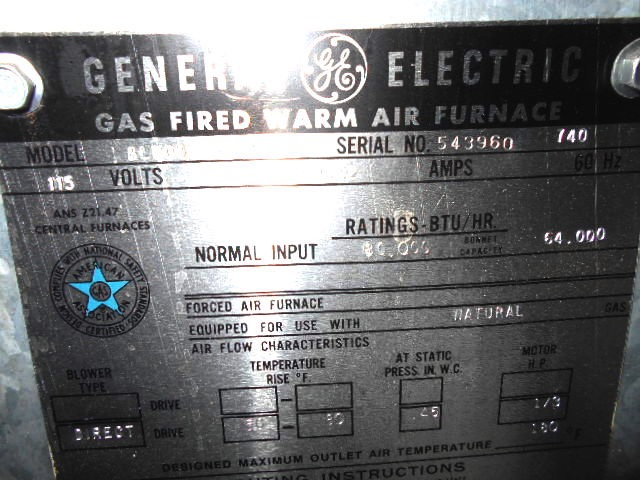 How can I determine the age of a GE (General Electric) gas furnace or air  conditioner from the serial number?McGarry and Madsen Inspection