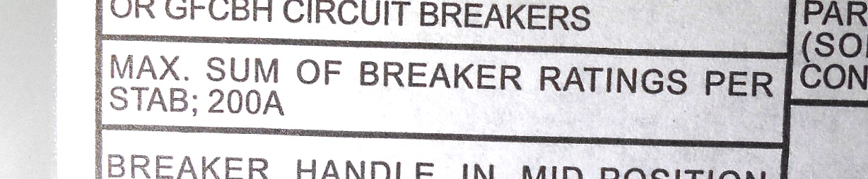 What is the maximum number of circuit breakers allowed in an