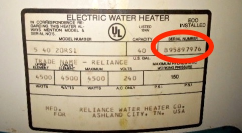 Lochinvar Water Heater Age By Serial Number - Best Water Heater
