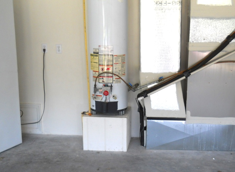 Are water heaters required to be raised off the floor?