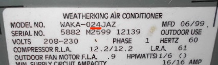 Tons Of My Weatherking Air Conditioner